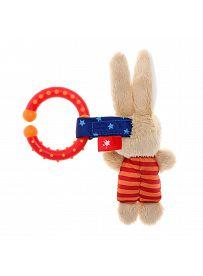 sigikid Plüschtiere für Babys: Hase gestreift, Spielanhänger  Rückseite | Kuscheltier.Boutique