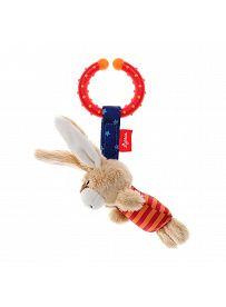 sigikid Plüschtiere für Babys: Hase gestreift, Spielanhänger | Kuscheltier.Boutique