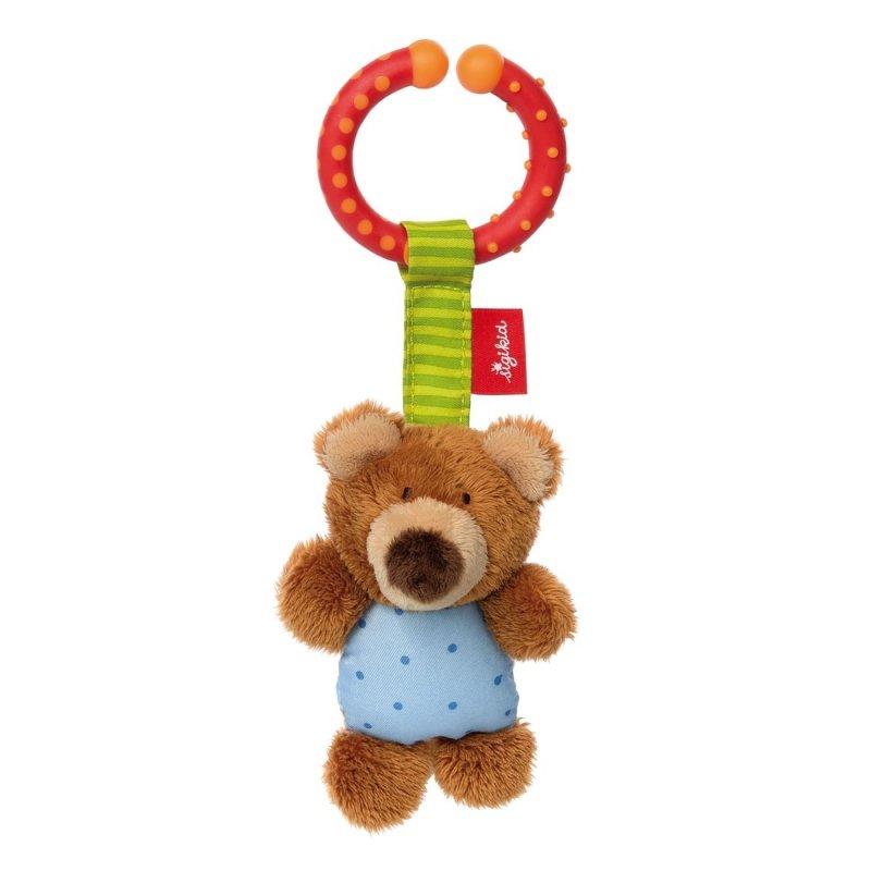 sigikid Plüschtiere für Babys: Teddybär hellblau, Spielanhänger | Kuscheltier.Boutique