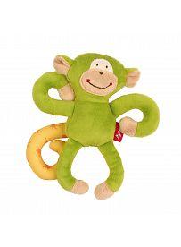 sigikid Plüschtiere für Babys: Affe grün, Rassel | Kuscheltier.Boutique