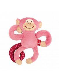 sigikid Plüschtiere für Babys: Affe rosa, Rassel | Kuscheltier.Boutique