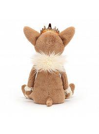 Jellycat Plüschtiere: Chihuahua Princess, hellbraun Rückseite   Kuscheltier.Boutique