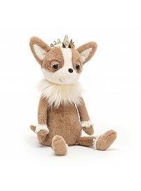 Jellycat Plüschtiere: Chihuahua Princess, hellbraun Vorderseite   Kuscheltier.Boutique