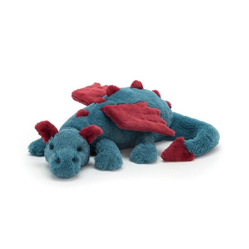 Jellycat Plüschtiere: Drache Dexter, blau Vorderseite | Kuscheltier.Boutique