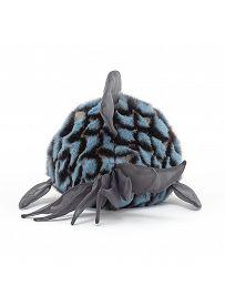 Jellycat Plüschtiere: Kugelfisch Grumpy, blau Rückseite   Kuscheltier.Boutique