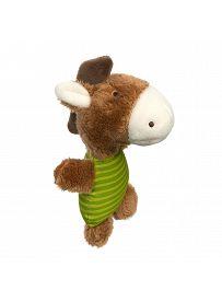 sigikid Greifling für Babys: Pferd braun / grün, Rasselgreifling   Kuscheltier.Boutique