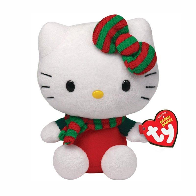 Ty Hello Kitty Xmas rot, 15cm