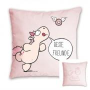 "NICI Theoder & Friends: Kissen ""beste Freunde"", 37cm"