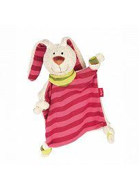 sigikid für Babys: Hasenmädchen beige / pink, Schmusetuch   Kuscheltier.Boutique