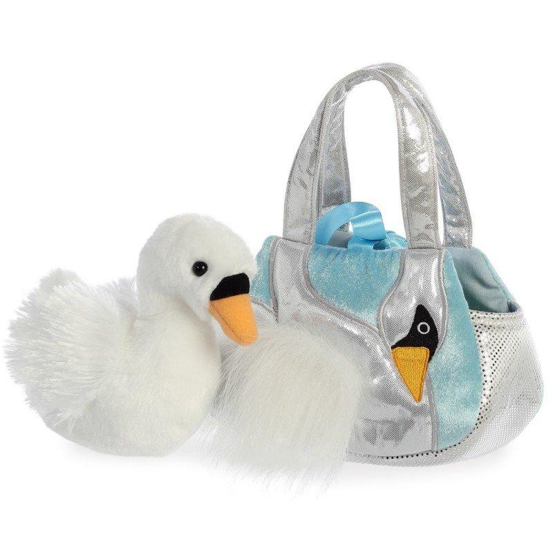 Schwan Fiona, Tasche AuroraWorld Luxe Boutique Plüschtiere   Kuscheltier.Boutique