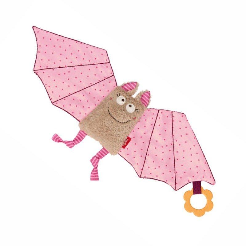 sigikid für Babys: Fledermaus rosa, Schmusetuch