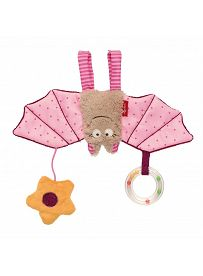 Fledermaus rosa, sigikid Greifling / Spielanhänger