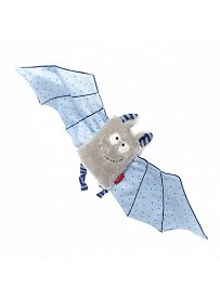 sigikid für Babys: Fledermaus blau, Schmusetuch Vorderseite   Kuscheltier.Boutique