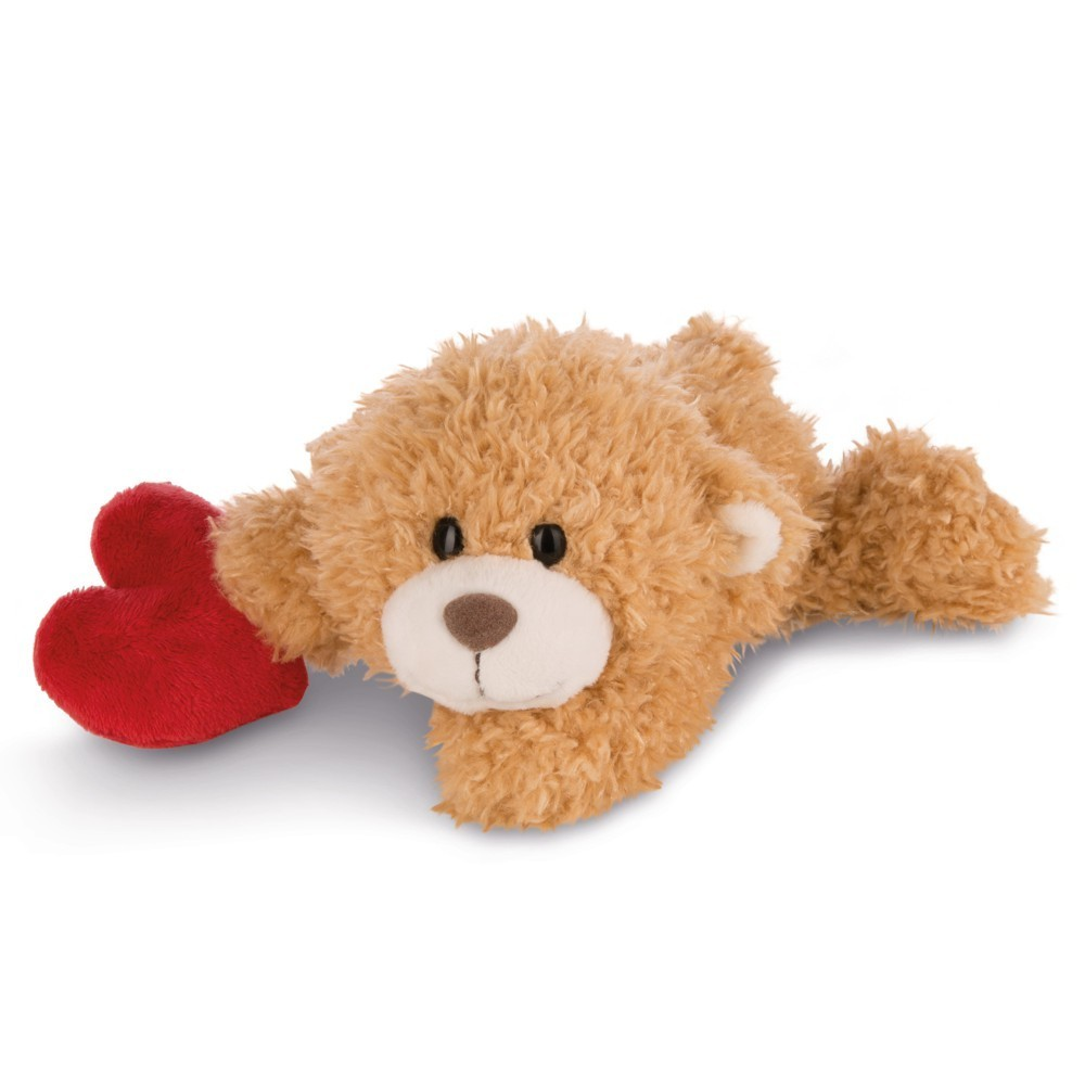 NICI Teddybären: Bär mit Herz hellbraun, 30cm