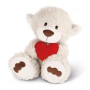 NICI Teddybären: Bär mit Herz weiß, 50cm