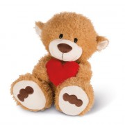 NICI Teddybären: Bär mit Herz hellbraun, 50cm