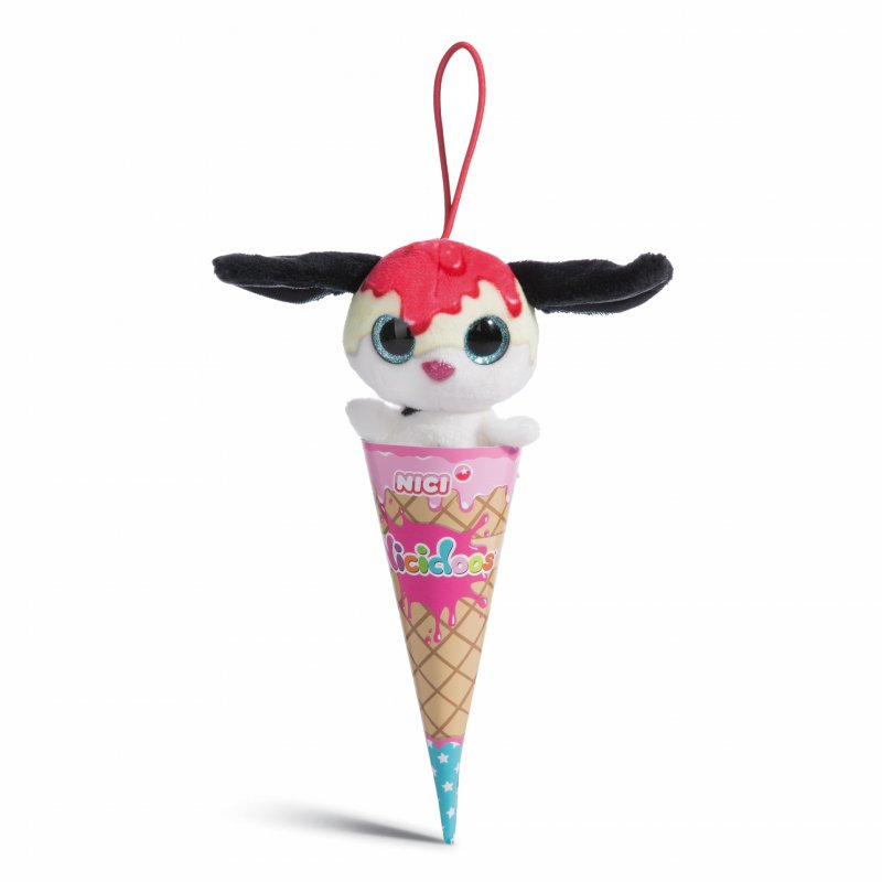 NICIdoos Ice Cream Edition: Hund Strawberry Cheesecake, 9cm