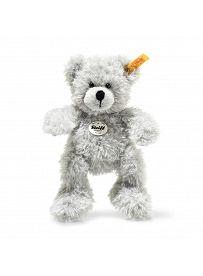 Steiff - Knopf im Ohr: Teddybär Fynn, 18cm hellgrau   Kuscheltier.Boutique