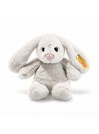 Steiff - Knopf im Ohr: Hase Hoppie, 18cm hellgrau | Kuscheltier.Boutique
