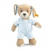 Steiff - Knopf im Ohr: Gute Nacht Hund, 28cm blau