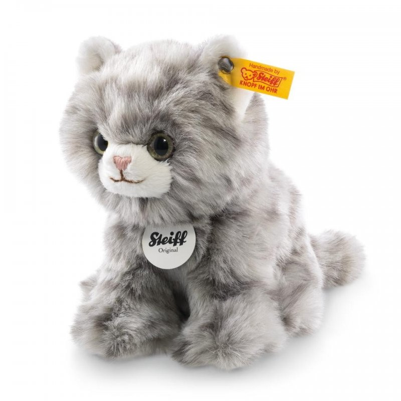 Steiff - Knopf im Ohr: Katze Minka, 20cm grau