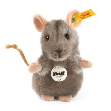 Steiff - Knopf im Ohr: Maus Piff, 10cm grau