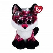 Ty Flippables: Fuchs Jewel, 22cm purpurrot - silber