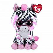Ty Flippables: Zebra Zoey, 15cm schwarz-weiß / rosa