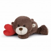 NICI Teddybären: liegender Bären Junge mit Herz, 20cm