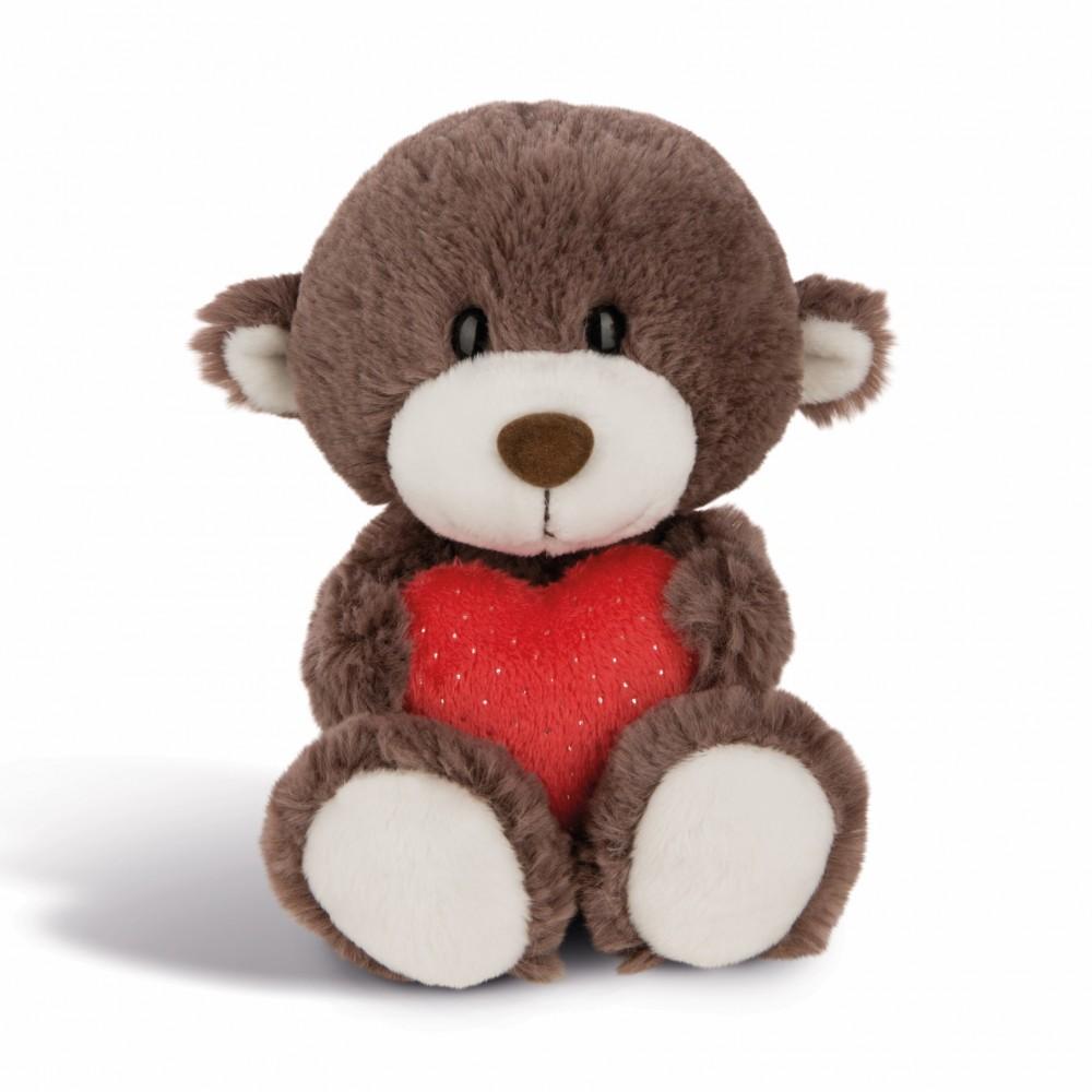 NICI Teddybären: Bären Junge mit Herz, 20cm braun
