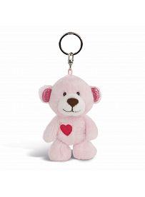NICI Teddybären: Bären Mädchen mit Herz, Schlüsselanhänger