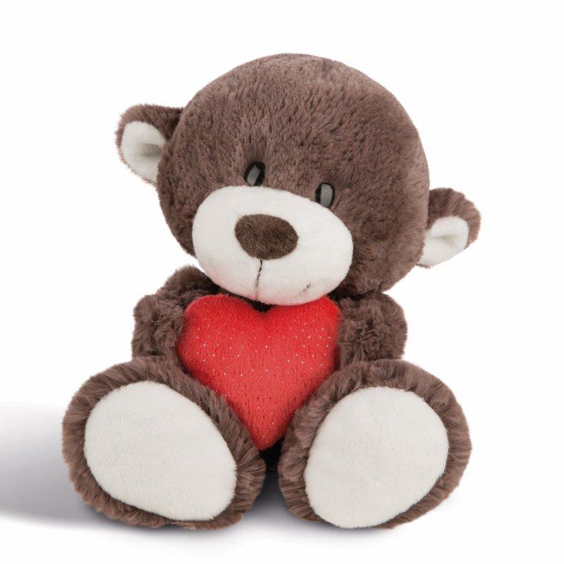 NICI Teddybären: Bären Junge mit Herz, 30cm braun