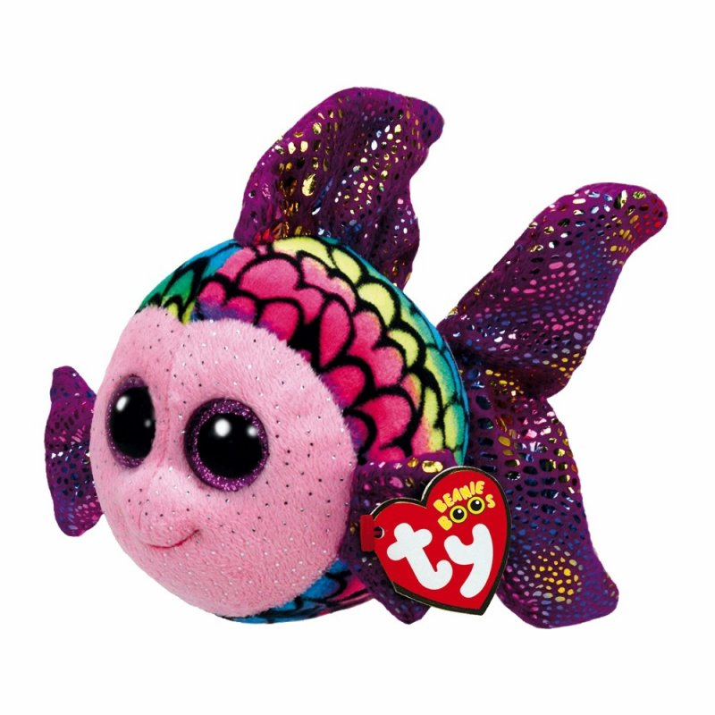 Regenbogenfisch Flippy, 15cm   Ty Beanie Boo's