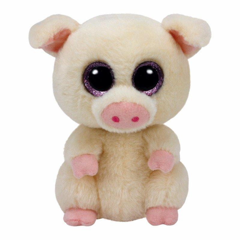 Schwein Piggley, 15cm cremebeige   Ty Beanie Boo's