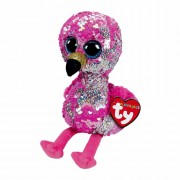 Flamingo Pinky, 15cm pink - silber | Ty Flippables