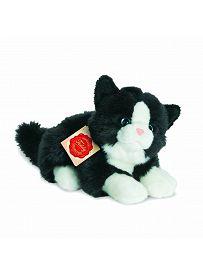 Teddy Hermann Collection: Plüschtier Katze schwarz-weiß, 20cm | Kuscheltier.Boutique