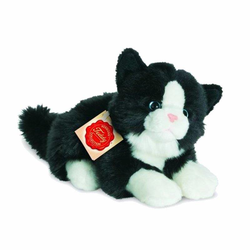 Teddy Hermann Collection: Plüschtier Katze schwarz-weiß, 20cm   Kuscheltier.Boutique