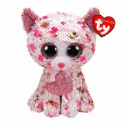 Katze Cupid, 15cm weiß - pink | Ty Flippables
