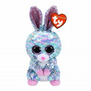 Hase Raindrop, 15cm türkis - silber | Ty Flippables