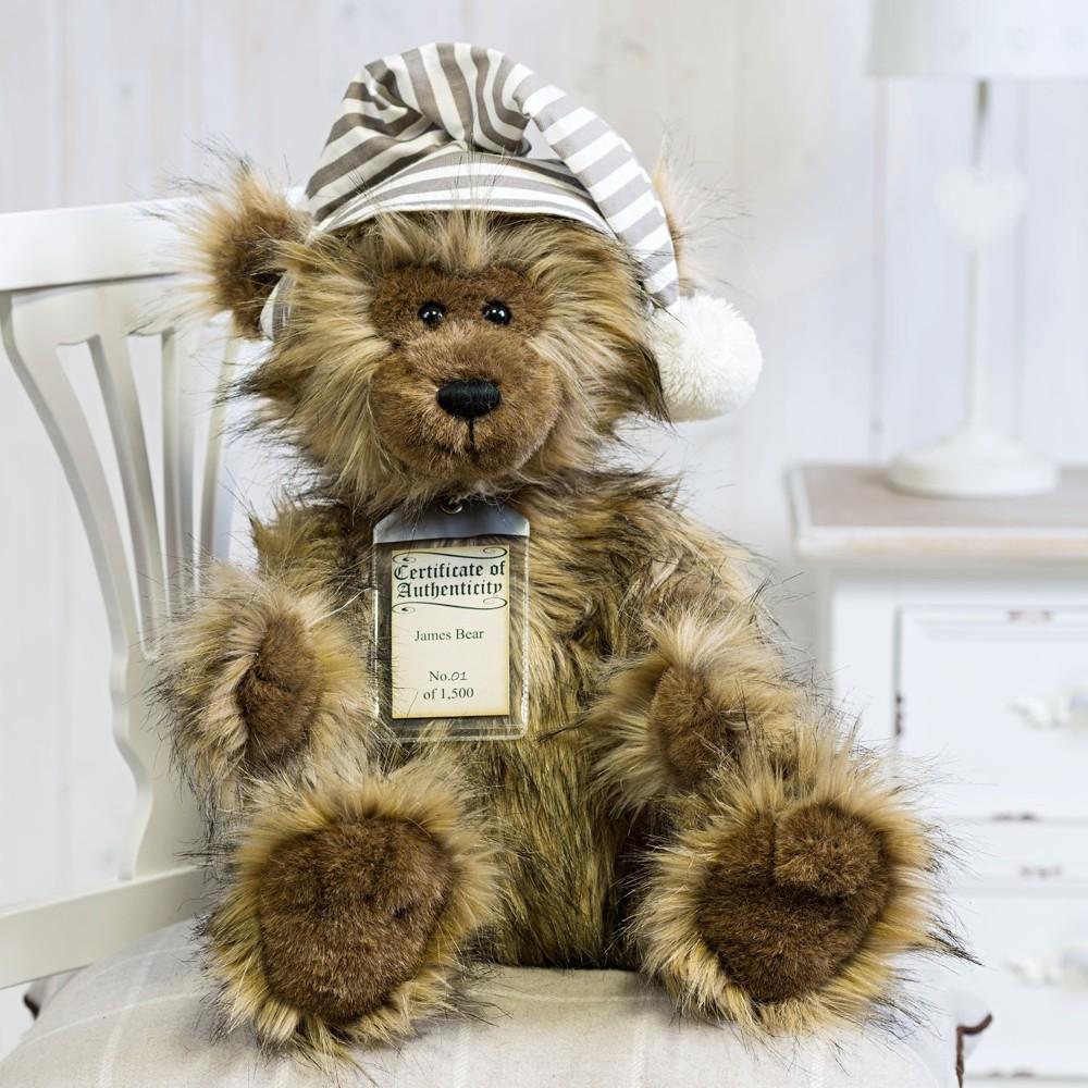 Teddybär James, 30cm | Silver Tag Bears von Suki Gift England