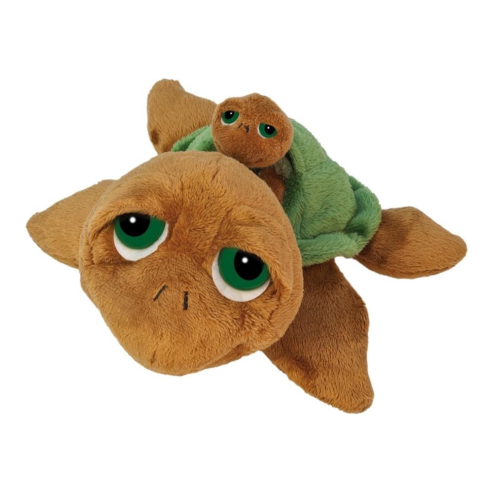 Schildkröte Sandy, 24cm mit Baby | LiL Peepers Kuscheltier der englischen Marke SUKIgifts