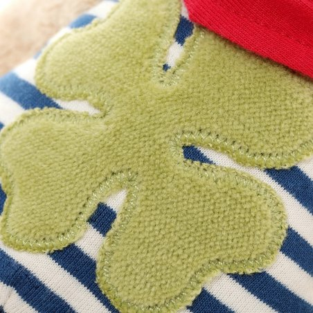 Hase mit Kleeblatt, Spieluhr Detail Applikation | sigikid GREEN Bio Collection