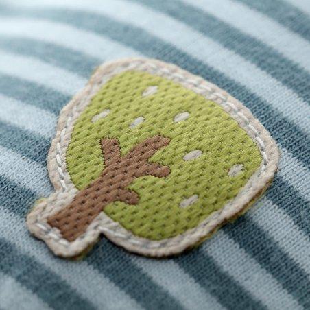 Wichtel blau-grün, Schmusetuch Detail Applikation | sigikid GREEN Bio Collection