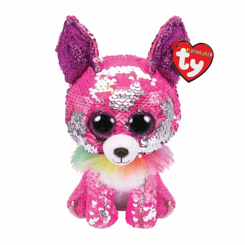 Chihuahua Charmed, pink / silberfarben  Ty Flippables