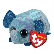 Elefant Stuart, türkisblau - weiß  | Teeny Ty Flippables