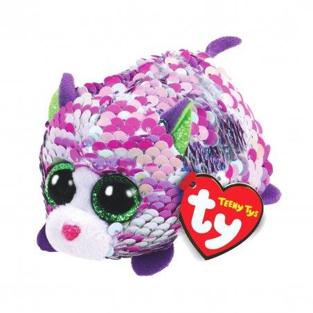 Katze Lilac, violett getigert - silber   Teeny Ty Flippables