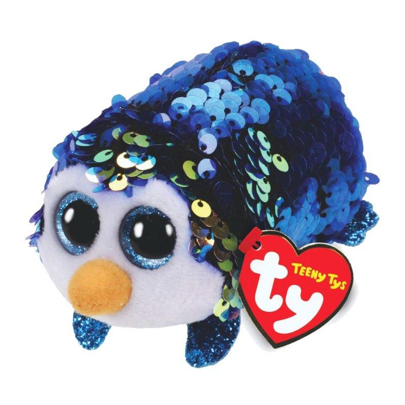 Pinguin Payton, dunkelblau - gold | Teeny Ty Flippables