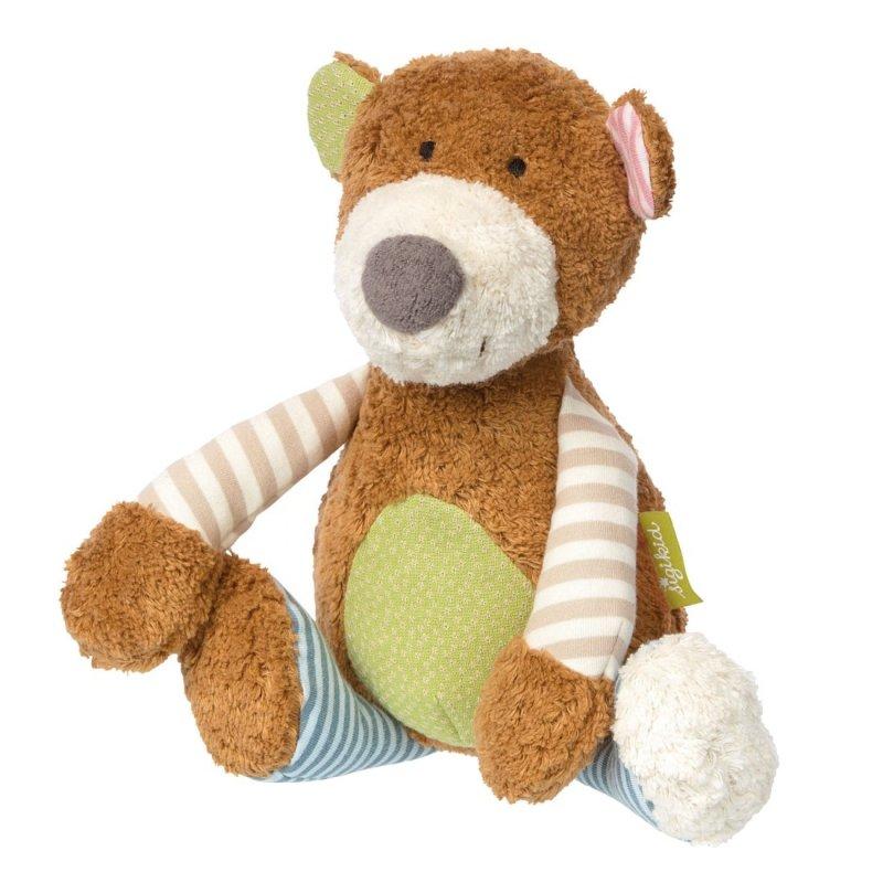Teddybär gestreift, 30cm | sigikid GREEN Bio Collection