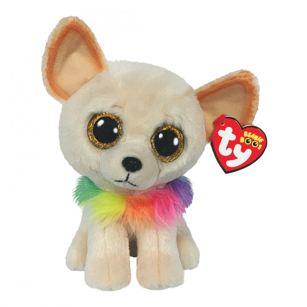 Terrier Chewey, cremefarben 15cm   Ty Beanie Boo's