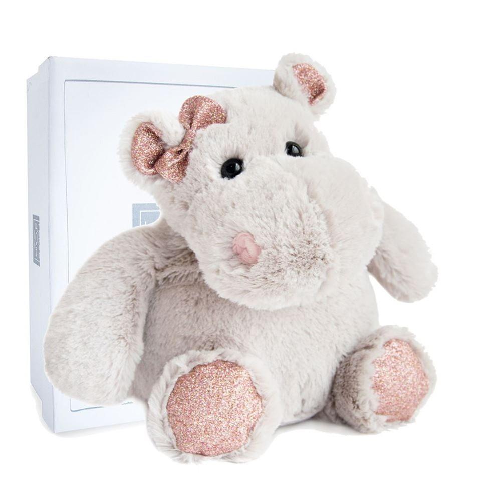 Nilpferd Hippo Girl, 25cm Plüschtier im Karton Histoire d'Ours   Kuscheltier.Boutique